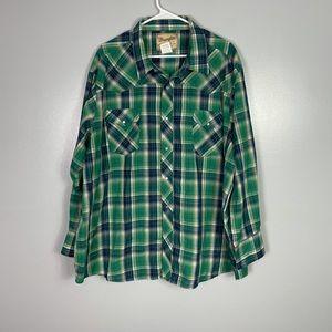Wrangler western fashion pearl snap shirt 3x